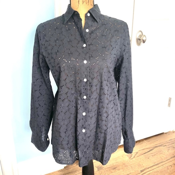 Lands End Eyelit Blouse
